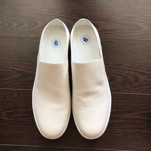New Vince Verrell White Leather Slip on Sneakers